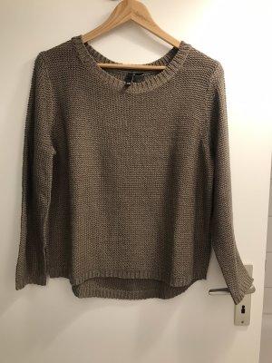 H&M Maglione di lana marrone-grigio