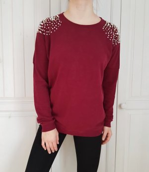 Pulli Pullover oversize rot weinrot dunkelrot Burgunder hoodie sweater cardigan shirt tshirt t-shirt