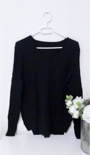 Pulli pullover schwarz basic sweater sweatshirt
