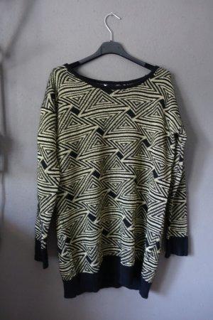 Pulli, Pullover, schwarz, gold, geometrisch, Glitzer, sehr cool!