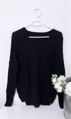 Pulli pullover sweatshirt v neck schwarz zara