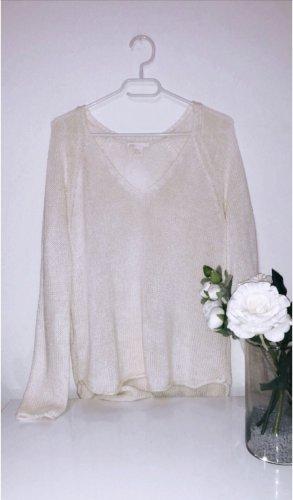 H&M Jersey de ganchillo blanco