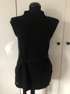 Escada Sport Długi sweter bez rękawów czarny