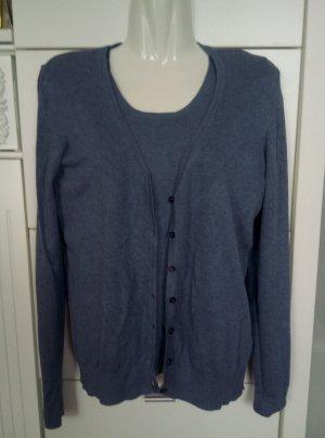 UP Fashion Twin set in maglia grigio ardesia