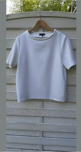 1.2.3 Paris Short Sleeve Sweater white