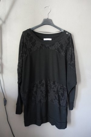 Pulli, Sweatshirt, Pullover, Shirt, Spitze, schwarz, Only, transparent, Sweater