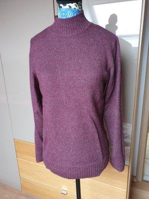 Vila Wool Sweater bordeaux-blackberry-red