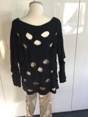 Ancora Crewneck Sweater black viscose