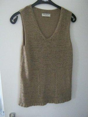 Ann LLewellyn V-Neck Sweater light brown