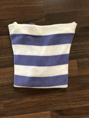 Benetton Pull à manches courtes bleu violet-blanc