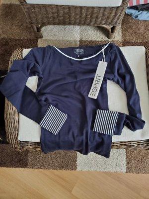 Długi sweter niebieski-stalowy niebieski Tkanina z mieszanych włókien