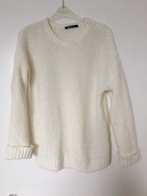 Gina Tricot Coarse Knitted Sweater natural white