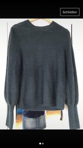 H&M Jersey de lana gris verdoso-caqui
