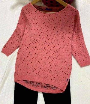 Joop! Pull tricoté noir-rose