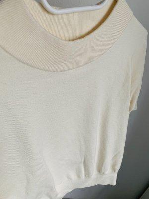 Mango Jersey de lana crema-blanco puro