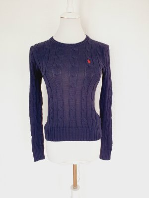 Polo Ralph Lauren Knitted Sweater blue cotton
