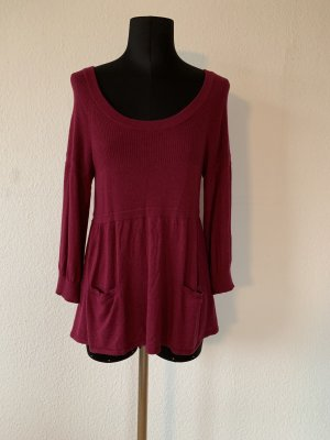 Knitted Sweater bordeaux-dark red