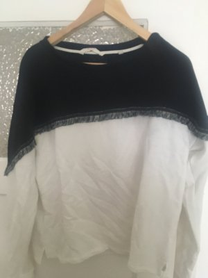 s.Oliver Fleece Jumper white-black