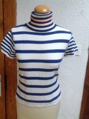 Dorothee Schumacher Short Sleeve Sweater white-blue mixture fibre