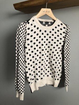 Stefanel Kaszmirowy sweter w kolorze białej wełny-antracyt Kaszmir