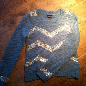Topshop Pull de Noël bleu cadet laine