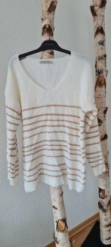 Vanessa Alexandra Pull tricoté doré-blanc cassé