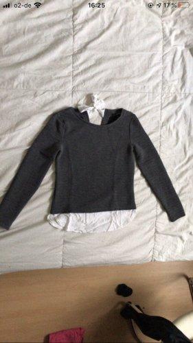Tally Weijl Pull long blanc-gris