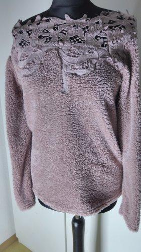 Polarowy sweter stary róż
