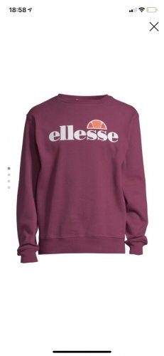 Ellesse Long Sweater blackberry-red