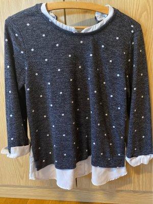 Faith and Joy Cienki sweter z dzianiny ciemnoniebieski
