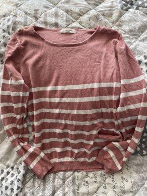 Belcci Kraagloze sweater wolwit-rosé