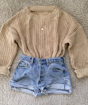 Coarse Knitted Sweater nude