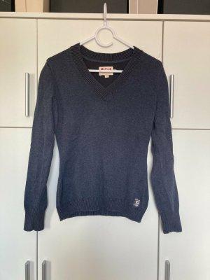 Mustang Jersey de lana azul oscuro Lana