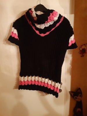 Oversized Sweater black-pink