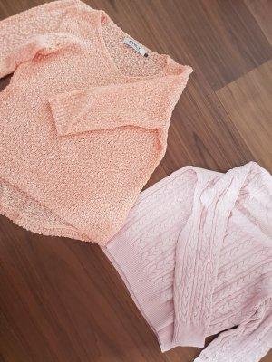 Only Fashion Gehaakte trui nude-lichtroze