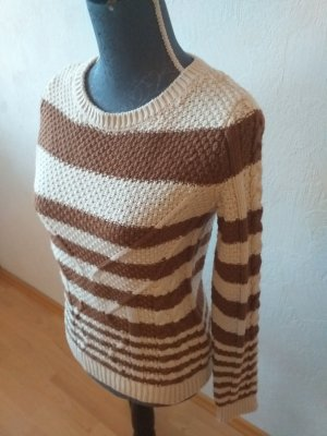 Xside Coarse Knitted Sweater light brown-oatmeal
