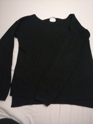 Laura Torelli Coarse Knitted Sweater black