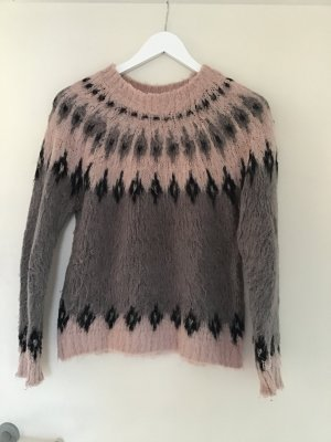 Vero Moda Norwegian Sweater rose-gold-coloured-grey polyacrylic