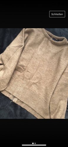 keine Sweter oversize beżowy