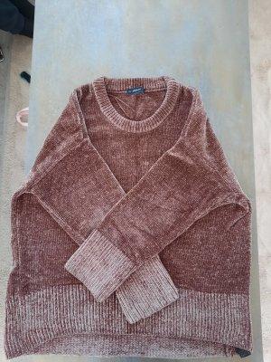Zara Pull tricoté brun