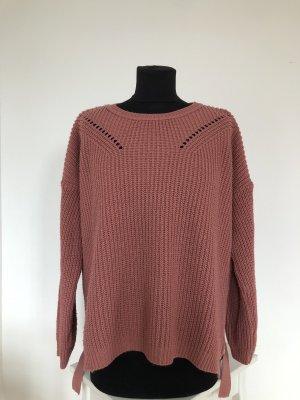 Bohoo Crewneck Sweater brown red-pink