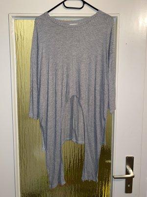 24Colours Jersey de cuello redondo gris claro-gris