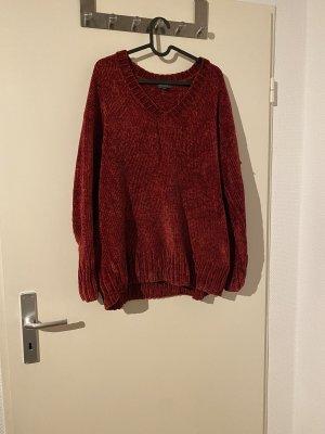 Broadway Maglione di lana rosso scuro-carminio