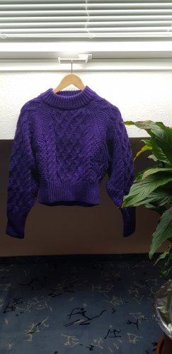 H&M Sweter z grubej dzianiny ciemny fiolet