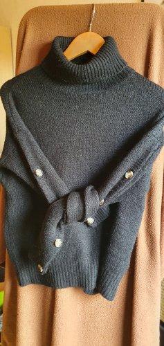 Vero Moda Jersey de cuello alto negro