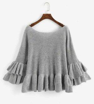 SheIn Crewneck Sweater grey