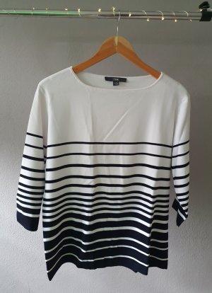 Tchibo / TCM Fine Knit Jumper black-white