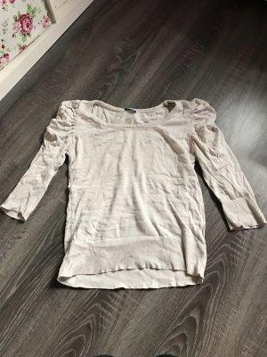 Pullover 3/4 längliche Ärmel pluster Schultern beige Oberteil