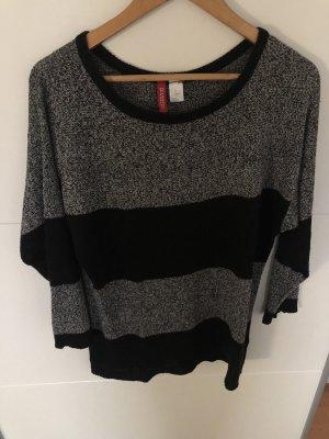 Divina Wool Sweater grey-black