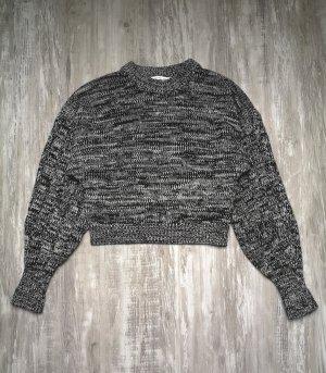 & other stories Wełniany sweter biały-czarny
